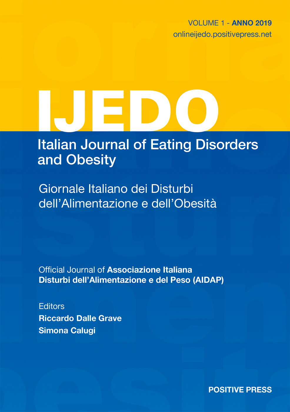 Giornale Italiano dei Disturbi dell'Alimentazione e dell'Obesita / Italian Journal of Eating Disorders and Obesity