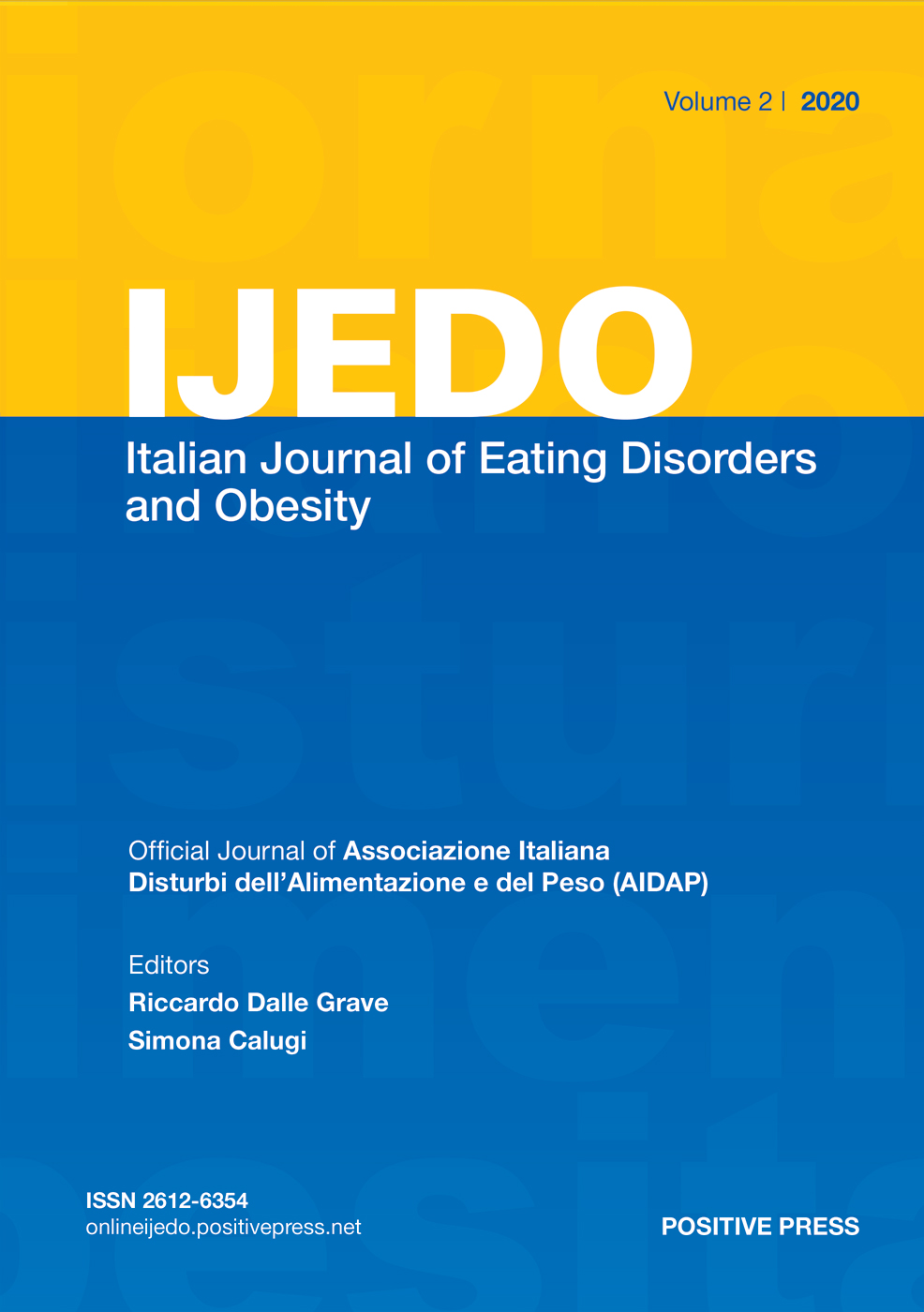 IJEDO Giornale Italiano dei Disturbi dell'Alimentazione e dell'Obesita / Italian Journal of Eating Disorders and Obesity